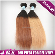 Two Tone Peruvian Ombre Color Weft 3 Pack Human Hair Bundles