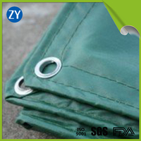 550gsm 1000x1000 green PVC fade resistant knife coated fabric