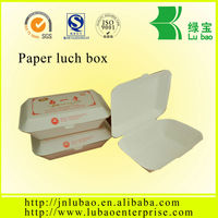 Online shopping clam shell design paper food box for take away food