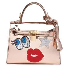 korean fashion cartoon big eyes crocodile grain lady handbag
