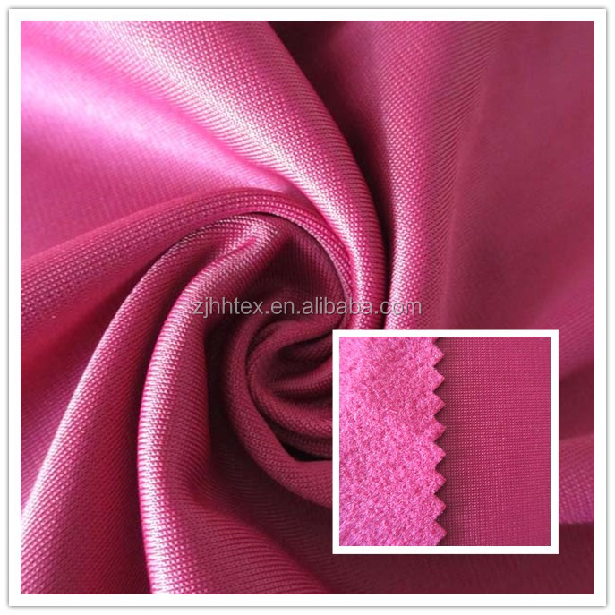 Comfortable Dryfit 100%Polyester warp knitting fleece fabric for school tracksuits