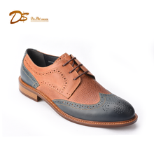 Latest design fashion italy hand made brogue men genuine leather dress shoes