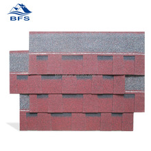 laminated red asphalt roof shingles