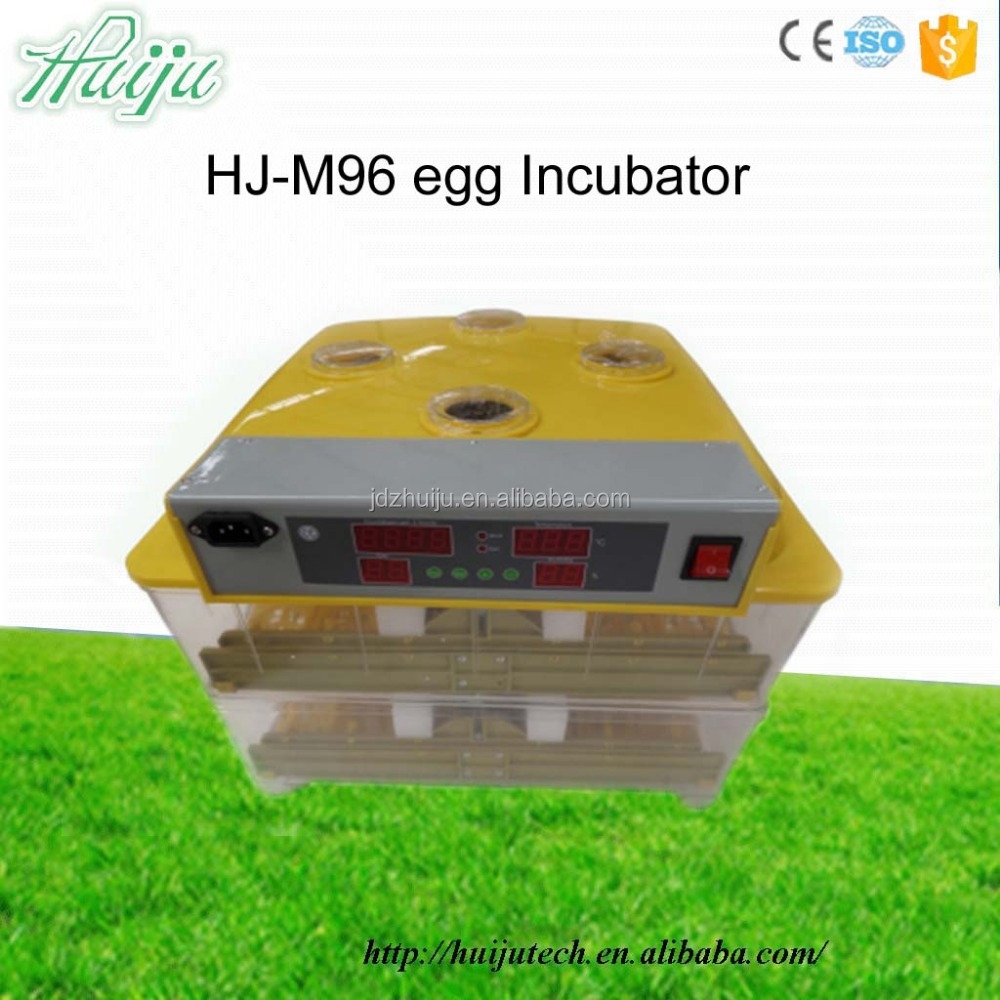 96 eggs chick egg hatch machine/chicken incubator price/solar eggs incubator HJ-M96
