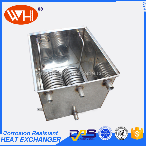 Alibaba best sellers evaporation tank, coil heat exchanger water tank, titanium water heater for fish tanks
