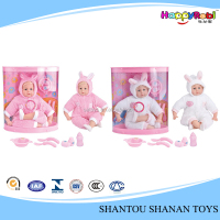 Hot saling happy game beautiful girl baby alive doll
