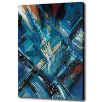 Canvas wall picture handmade reproduction oil painting of cityscape for room