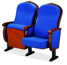 Wooden Auditorium Seating / Theater seats / Theatre Chairs with single leg AW-22