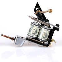 Wholesale- TM8397 Professional Complete New Tattoo Machine Gun Casting Iron 10 Coils Liner Tattoo Machine