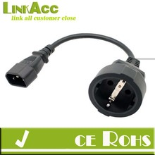 Linkacc1IE IEC C14 Male Plug To SCHUKO EURO Socket short cable