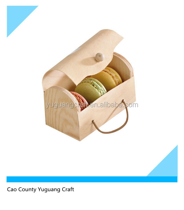 Hot Sale Customized Wooden Macaron Packaging Box