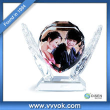 Cheap crystal photo frame,DIY crystal photo for gift & craft