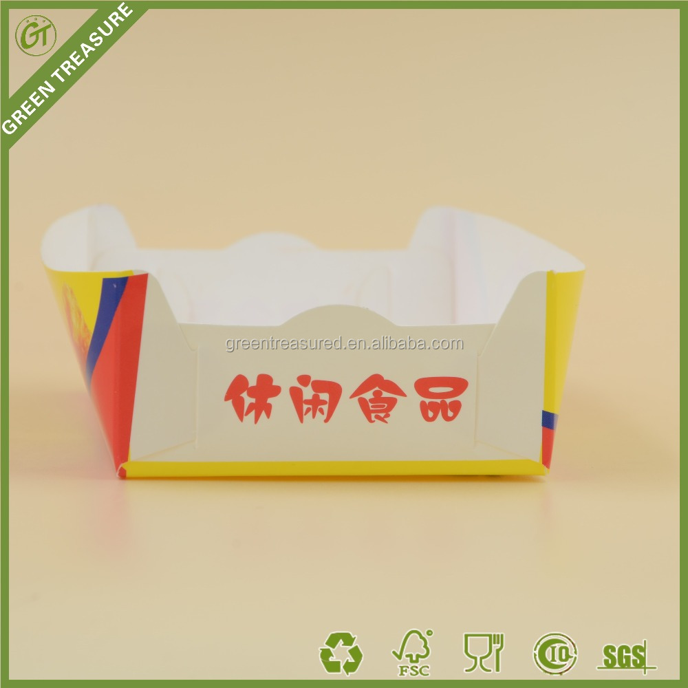 2016 Square Paper Food Packaging Box for Chip, Potato, Salad, Ice Cream Paper Food Packaging Box