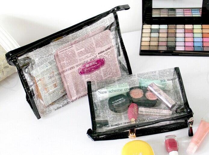 alibaba 10 years golden supplier ziplocked clear pvc cosmetic storage bag wholesale(SD-CB-055)