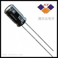 Aluminum electrolytic capacitor 820UF 16V 20% radial UPW1C821MPD in stock