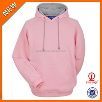 Special Pink Hoodie Men 100% Cotton Plain Dyed Anti-Pilling Hoodie With Wholesale Cheap Price