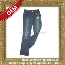 Bottom price hot selling design pictures sexy jeans women