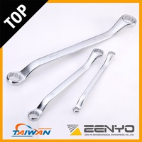 Made in Taiwan Drop Forged CRV Chrome Plated Offset Double Ring Spanner