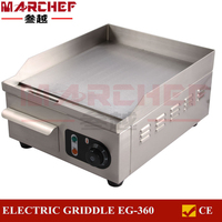Electric Griddle Commercial 50cm Flat Kitchen Hotplate Stainless Steel Counter Top