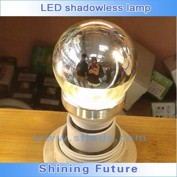 Shadowless oral 3W 5W brightness control smd warm white glass body E27/E26/B22 LED Bulb light