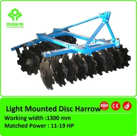 Farm implement disc harrow for tractor/compact tractor disc harrow
