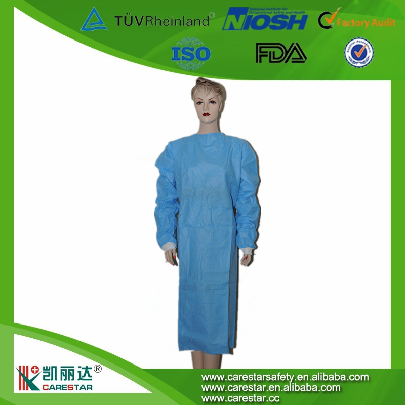 Hospital Use Disposable CPE Nonwoven Surgical Isolation Medical Gowns