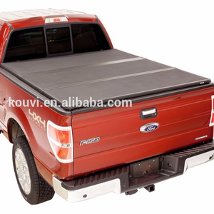 KV8802 Hard tri folding tonneau cover truck bed locking pickup truck covers for 2015-2016 dmax double cab tunning kit