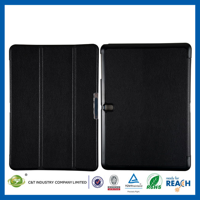 C&T Ultra Thin Magnetic Smart Cover & Back Case For samsung galaxy tab 10.1 3g