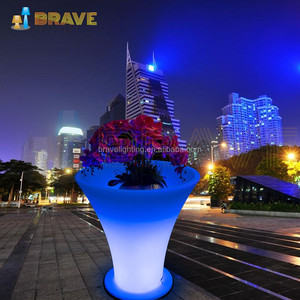 LED Glow flower pot/ large outdoor planter/decoration vase