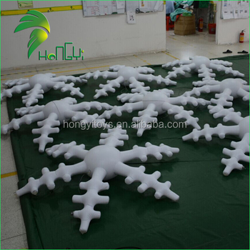 Customized Hanging LED Inflatable Snowflake for Decoration