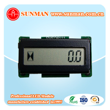 seven segment lcd digital counter display with 6 numbers