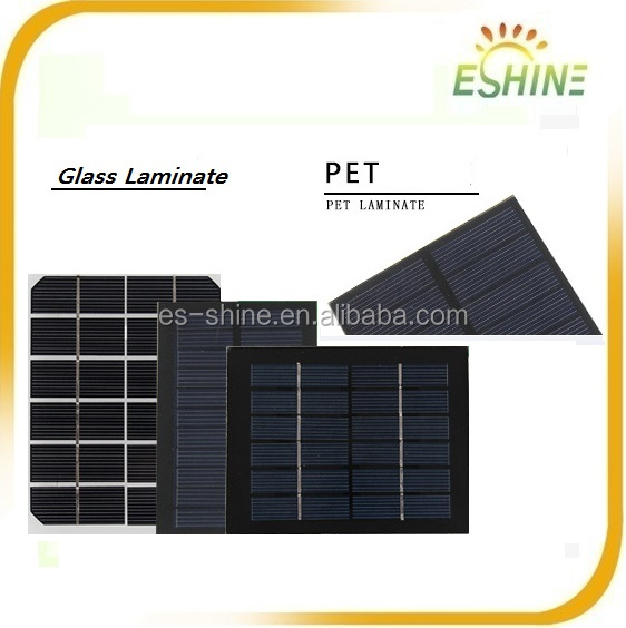 Custom Shape Small Tempered Glass Poly Crystalline Mini Solar Cell Panels