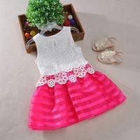 2016 hot sale colorful China Manufacturer imported kids dress