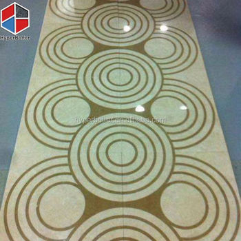 Circle yellow ceramic tile