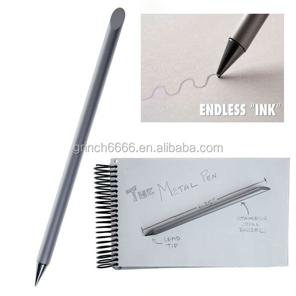 Inkless metal pen, inkless beta pen heavy metal pens