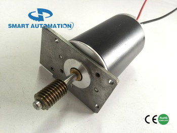 42mm precision worm shaft brushed dc motor , 12v 24v 40v