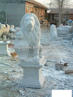 Carving stone lion