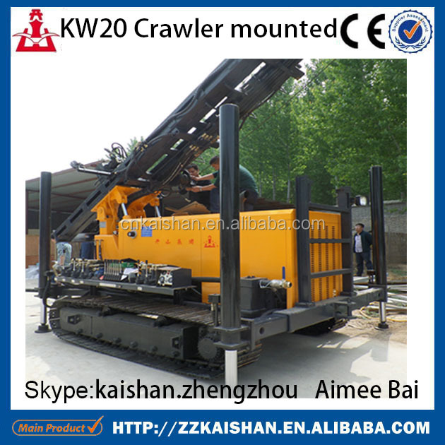 Kaishan brand 200m depth geothermal bore hole water well drill rig crawler mounted and truck mounted