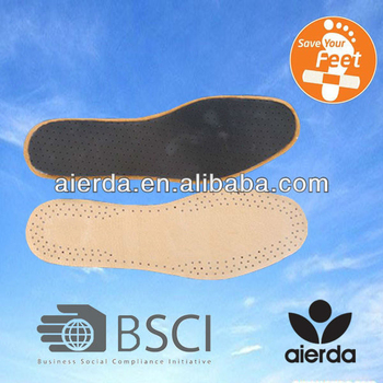 flat leather and latex insole