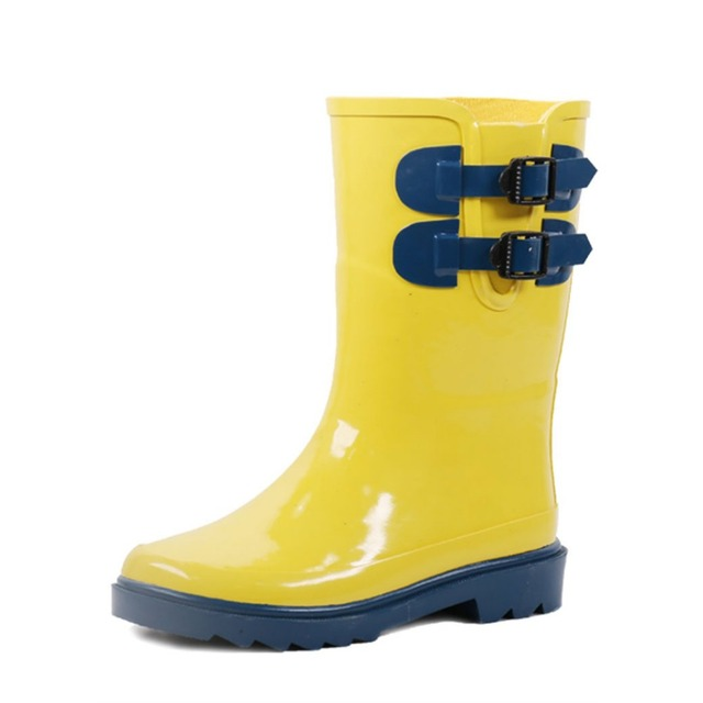 New Design Waterproof Durable Child Cheap Yellow Girl Rubber Rain Boots for Children