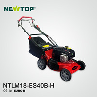18 inch gas hand push lawn mower with B&S500E engine commercial lawn mower