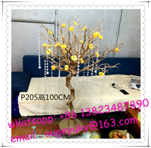 Gold tree stand table centerpieces , artificial tree without leaves for weddings