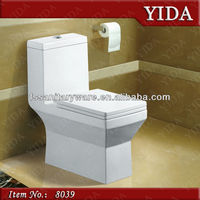 foshan sanitary ware toilet , siphonic toilet with slowdown cover ,250mm Strap toilet