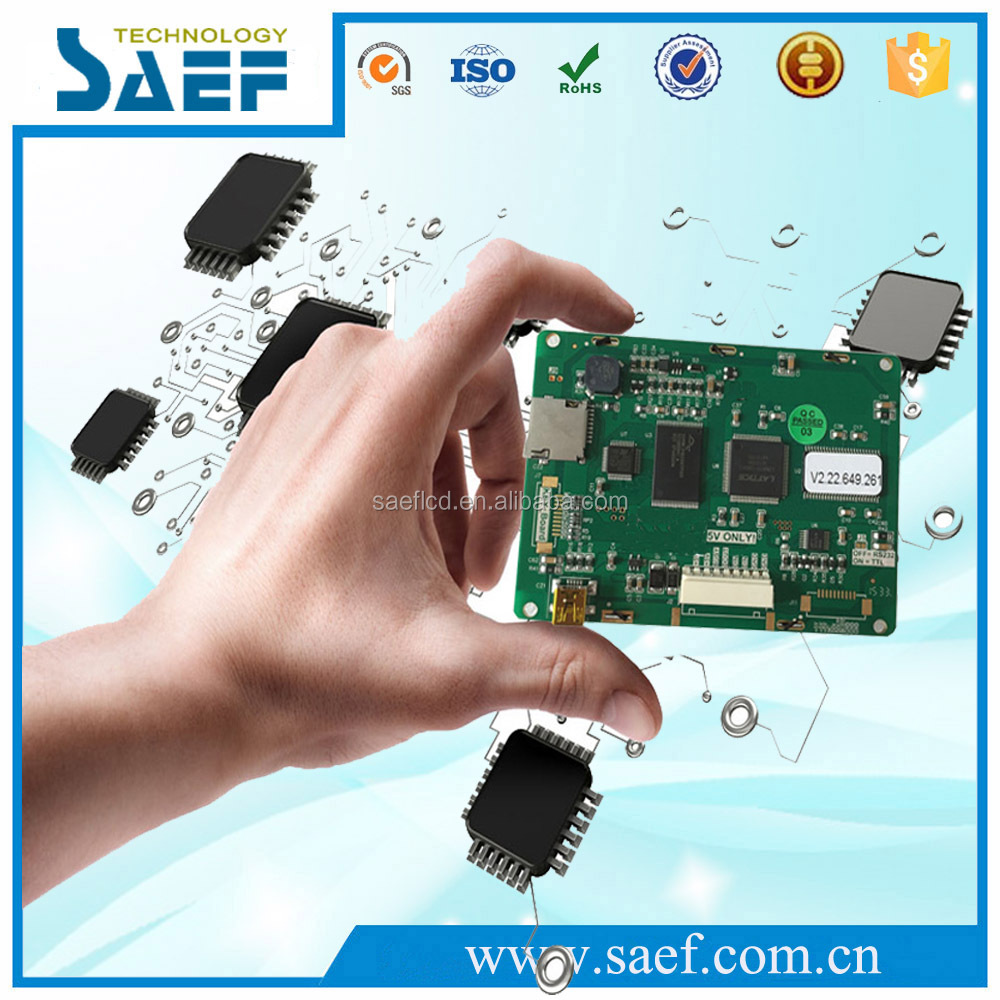 SAEF tft display 3.5 inch lcd panel serial interface 320x240 dots controller board With / Without 4 wire Resistive Touch Screen