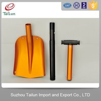 Golden Collapsible handle heated push snow shovel