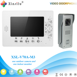 XSL-V70A-M3 1V1 XSL Manufacturer 2016 7 Inch Color Video Door Phone Intercom System Smart Home Door Bell ring with camera