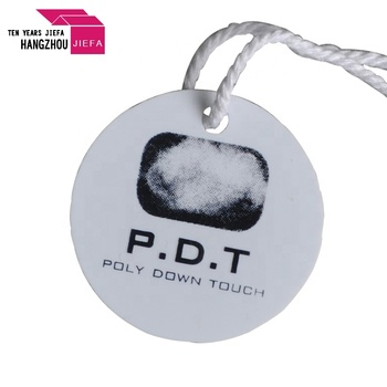 White Color New Design Garment Hang Tags for Clothes