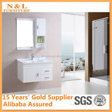 2012 hot sell double artificial stone basin PVC Bathroom Vanity, MFC bathroom cabinet set, bathroom vanity