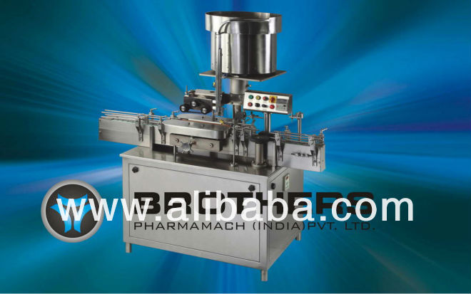 Automatic Linear Measuring Cup Placement / Cap Pressing Machine