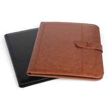 customize A4 /A5/A6 PU leather notebook with calculator/ pen pocket/contacts